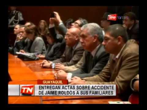 Entregan actas sobre accidente de Jaime Roldós a sus familiares