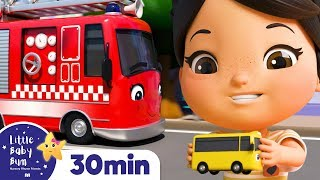 The Vehicles Sound - Trucks, Cars, Bus +More Nursery Rhymes | ABCs and 123s | Little Baby Bum