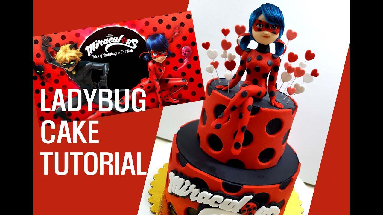 Ladybug Birthday Cake Topper