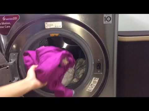 LG 9Kg Steam Washer : Allergry Care Cycle    Washing Clothes In Allergy Care Cycle