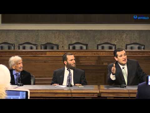 Elie Wiesel, Rabbi Shmuley, and Ted Cruz at the United States Senate.