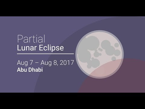 Partial Lunar Eclipse IN ABU DHABI