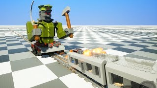 Поезд против Робота - Brick Rigs | Лего битва
