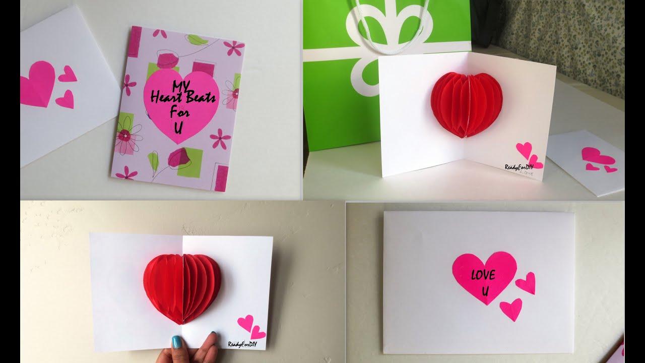 diy valentine's day card  envelope  readyfordiy  youtube