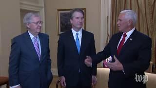 Pence, McConnell meet with Brett Kavanaugh
