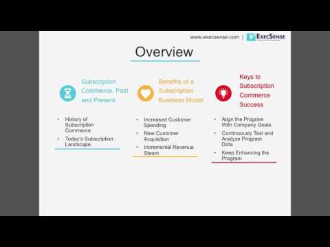 Subscription Business Models Overview