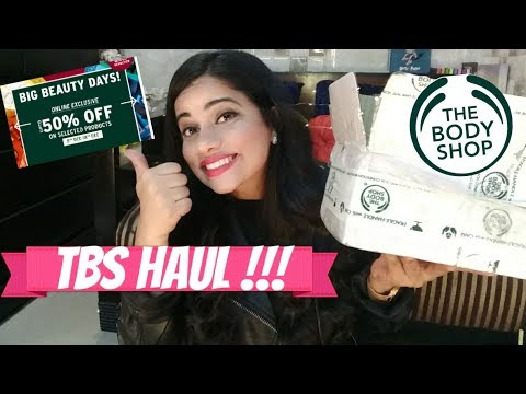 THE BODY SHOP ( 50% Christmas Sale ) HAUL / Review |TheLifeSheLoved| Sana K