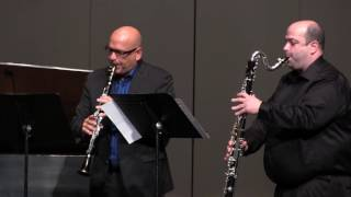 bacchanale 4 clarinets by csaint saëns with phcuper vtangarov amoisan dgould