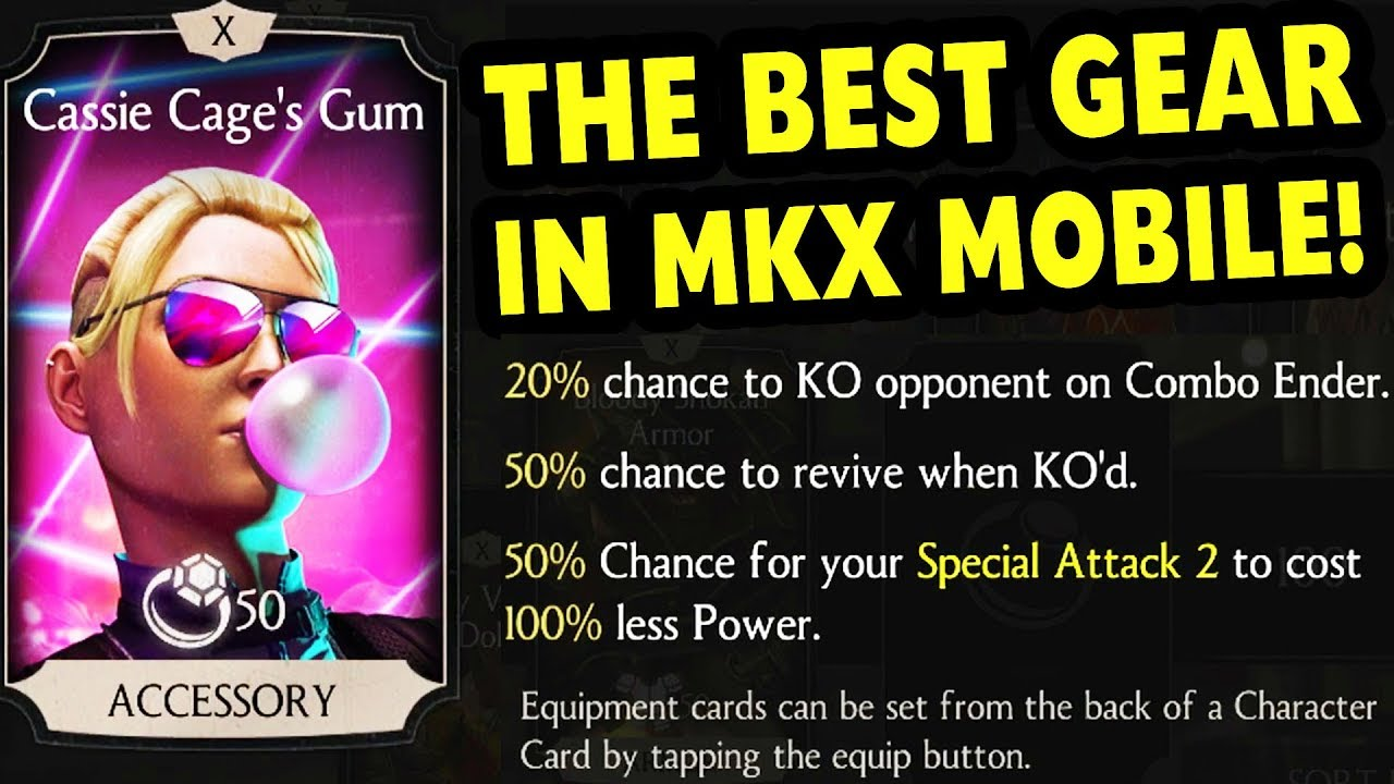 Mkx Mobile Cassie Cages Gum Equipment Card The Most Overpowered