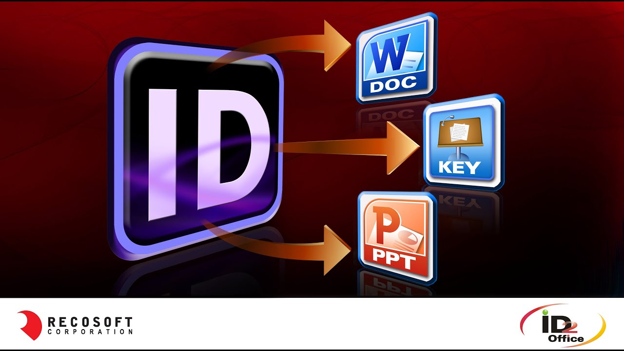 id2office convert indesign to word and powerpoint formats youtube