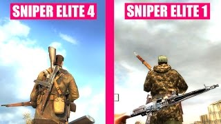 Sniper Elite 4 Gun Sounds vs Sniper Elite 1 Comparison