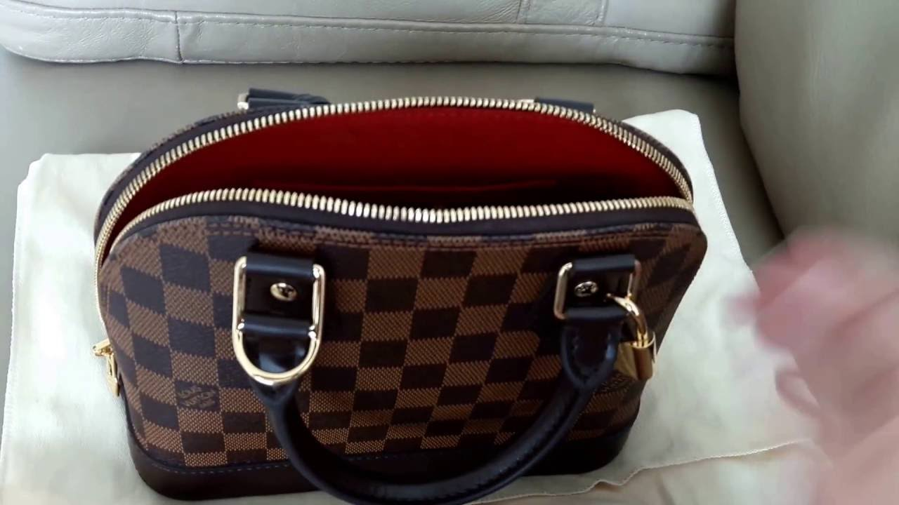 c429da0ca47 Louis Vuitton Alma BB in Damier Ebene -- Creating a Different Look and What  Fits in the Bag