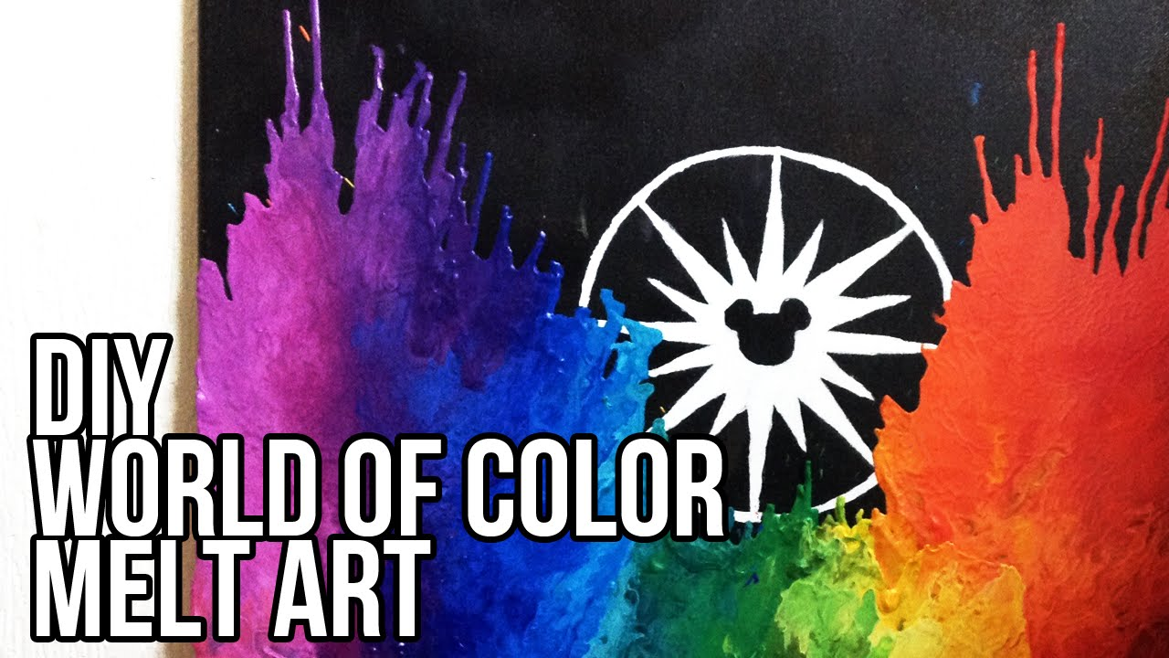 color crayon art : Diy Disney S World Of Color Melt Art