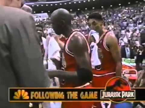 1995 NBA Playoffs ECSF G1 Bulls v Magic Final Part