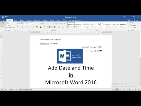 Add Date And Time In Microsoft Word (Automatically Update)