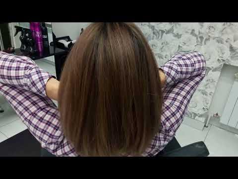 Балаяж на темные короткие волосы