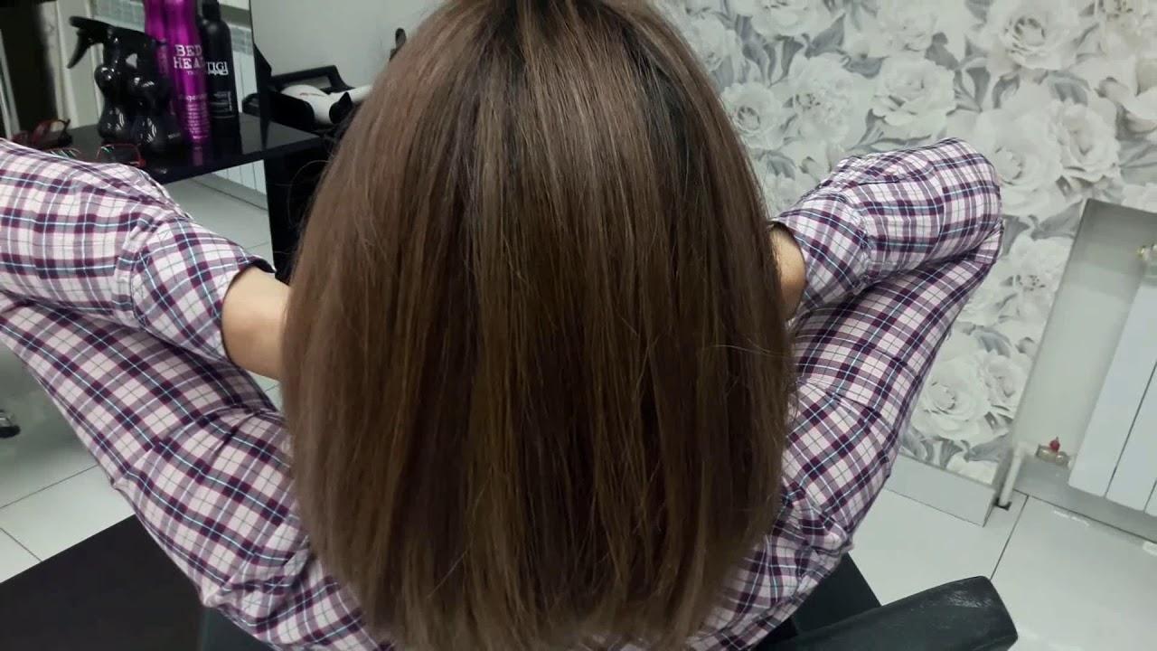 Шатуш на короткие темные волосы