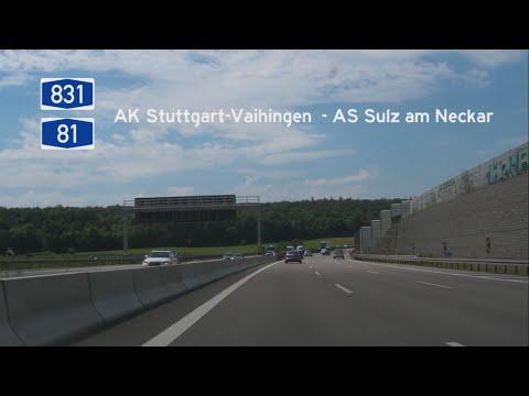 [D] A831+A81 AS Stuttgart-Vaihingen - AS Sulz am Neckar