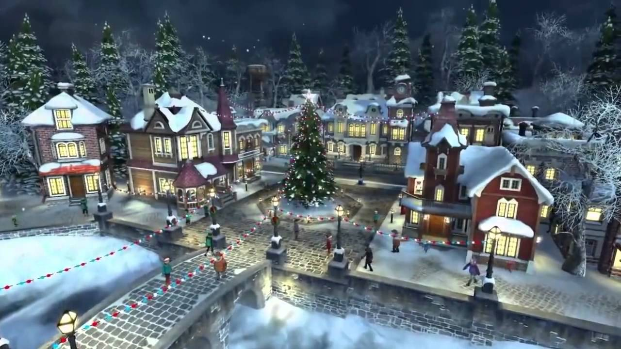 Snow Village 3d Live Wallpaper And Screensaver Santa Claus Christmas In Snowy Village ☆ ☆ 720hd 1 Youtube