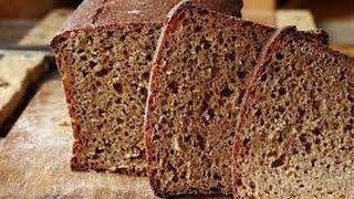 Домашний пшенично-ржаной хлеб в  печке