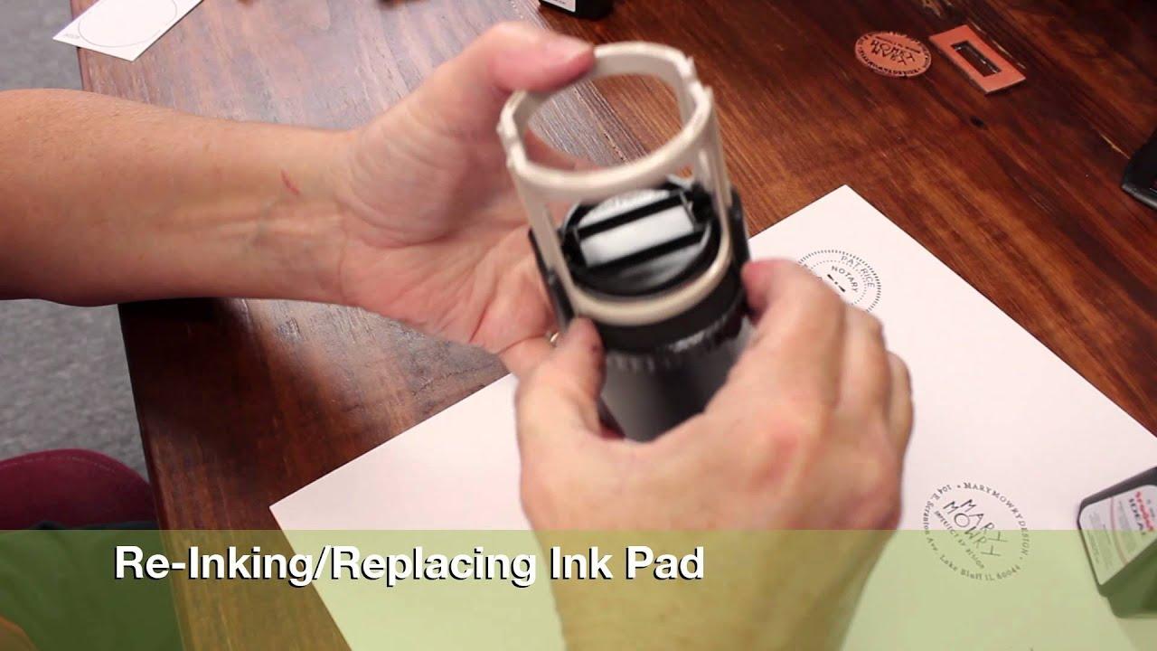 tutorial   ideal round self-inking stamp