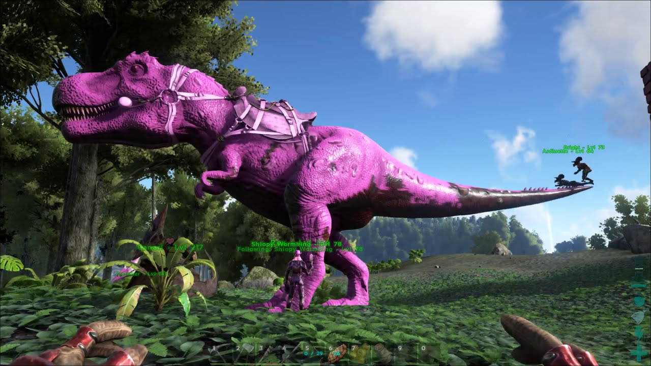 Ark Survival Evolved Painting T Rex In Pink