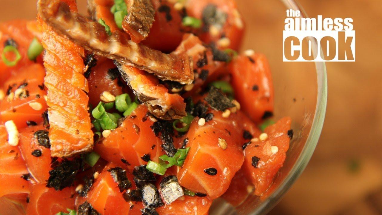 Salmon Poke Recipe Hawaiian Classics Youtube