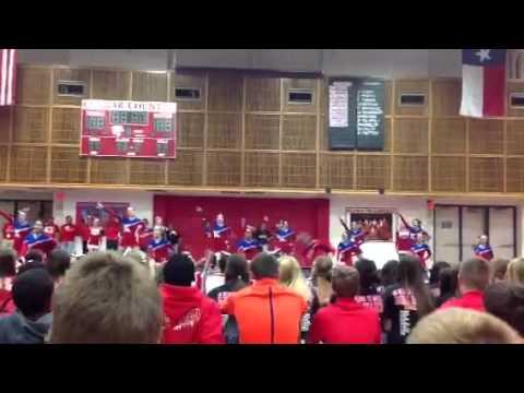 Tomball High School White Team  Intermediate Varsity--Pep Rally 2013