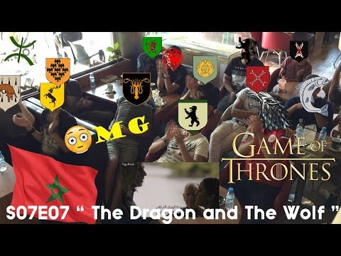 """GAME OF THRONES S07E07 """"The Dragon And The Wolf"""" (Moroccan Group Reaction) @ CoffeeShop Agadir"""