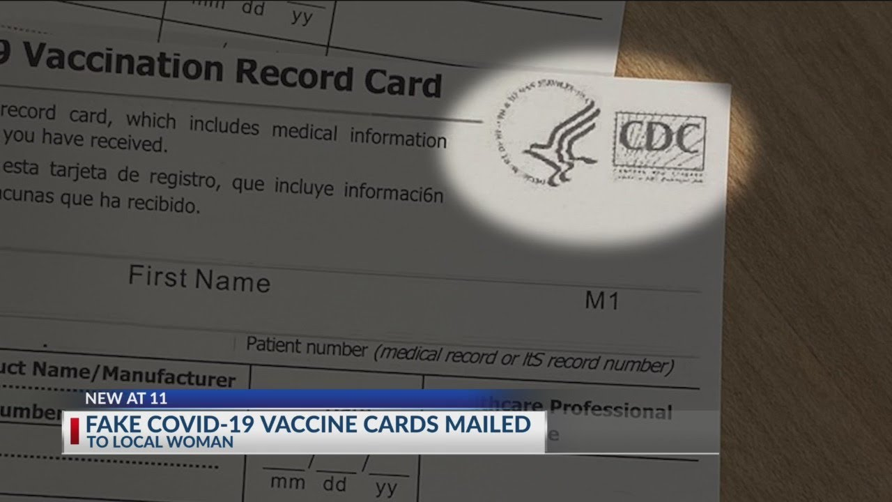 Fake vaccine cards sent to central Ohio woman after ordering card holders