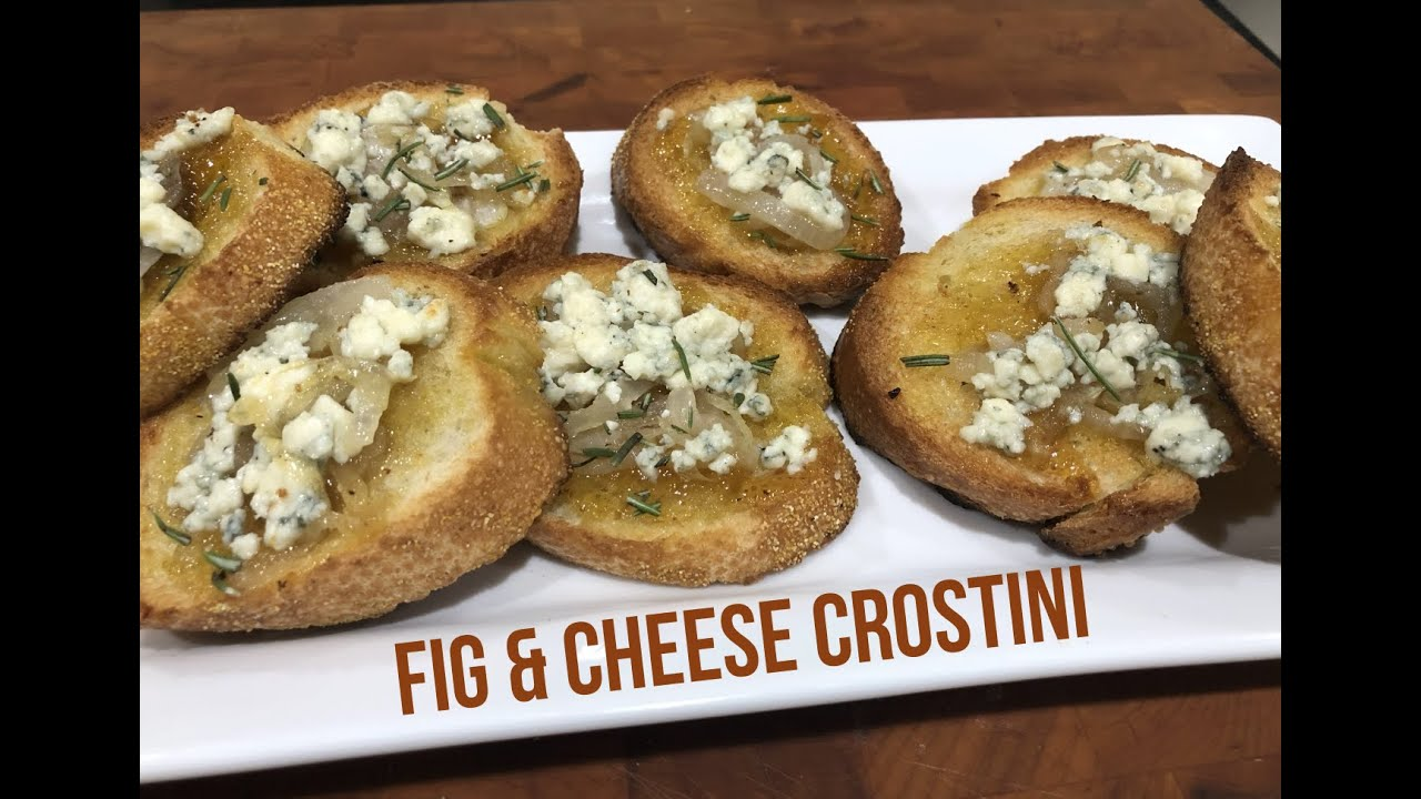 Fig & Gorgonzola Crostini with Caramelized Onions