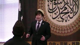 A Japanese Singer Singing Qaseeda Burda Shareef @ Masjid Bait-ul-Aahd Japan