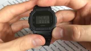 Наручний годинник Casio G-SHOCK DW-5600BB-1E - відео огляди від PresidentWatches.Ru