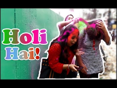 Throwing GULAL On Girls (TWIST) | Holi Pranks In India |