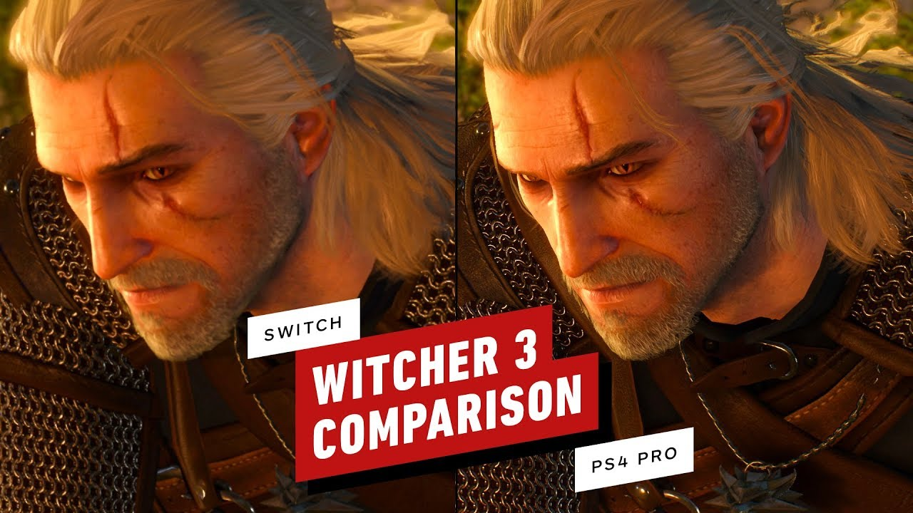 La comparación de gráficos de The Witcher 3: Nintendo Switch vs PS4 Pro + vídeo