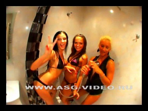 Hidden camera girls take a shower after  party