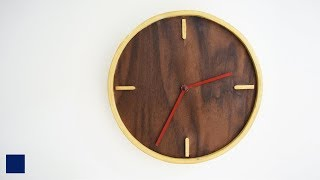 Making A Wall Hanging Clock out of a sample piece of Walnut Veneer (That i got send for my upcoming desk build) which i then...