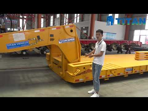 Lowboy Trailer For Sale | Detailed Explanation Of TITAN 60 Ton Lowboy Trailers For Sale