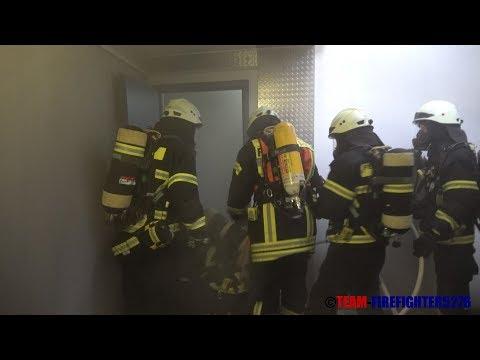 [Tiefgaragenbrand in Dietzenbach] Atemschutznotfallrettung mit der ANTS Rodgau