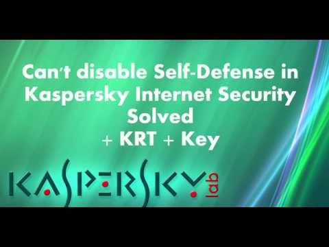 kaspersky cant disable self defense