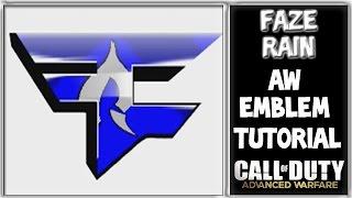AW Faze Rain Emblem Tutorial : Call of Duty Advance Warfare