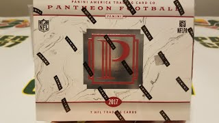 2017 Panini Pantheon Football Hobby Box. High End Unboxing