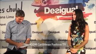 080 Barcelona Desigual press conference with Adriana Lima, Brazilian Supermodel Thumbnail