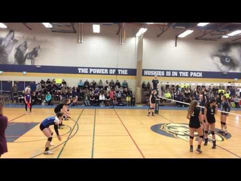 2016 BC AAA Senior Girls Volleyball Provincial Championships Caledonia vs OKM