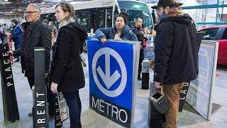 Subway car doors among items sold at Montreal transit garage sale