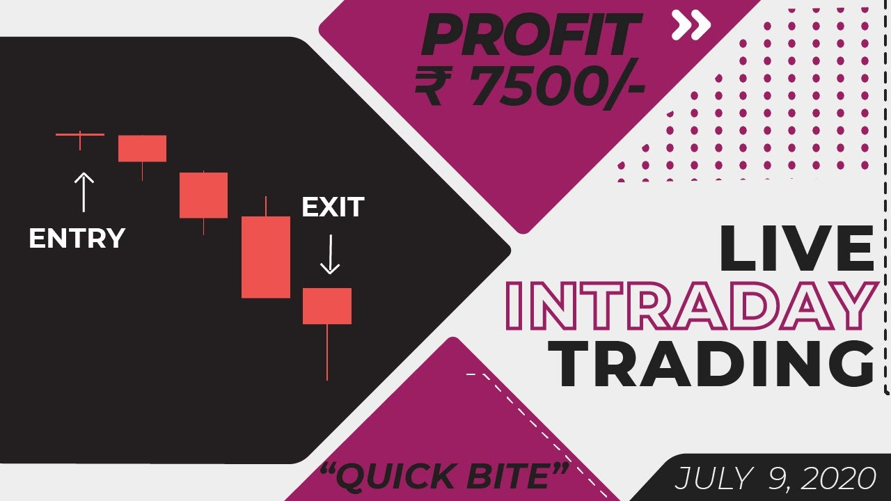 Live Intraday Price Action Trading || VP Financials || 09 JULY 2020