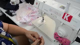 Diy Costurando uma calcinha na máquina doméstica