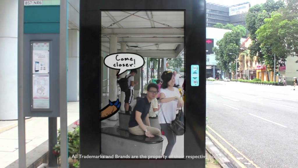 Hugs For Health Augmented Reality Bus Stop Youtube