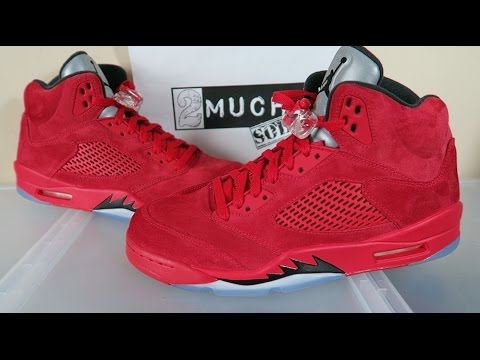 6869b2f759e113 AIR JORDAN 5 UNIVERSITY RED SUEDE ON FEET EARLY REVIEW