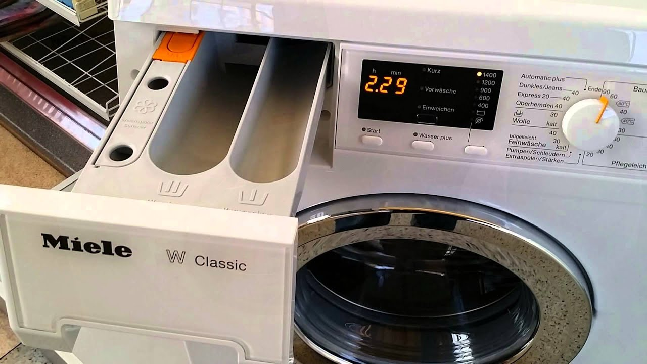 miele wda 110 wcs waschmaschine elektro depot bochum wda110wcs youtube. Black Bedroom Furniture Sets. Home Design Ideas